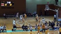 延岡学園vs八王子(3Q)高校バスケ 2016 KAZU CUP
