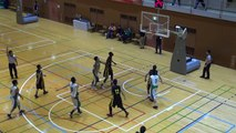 市立船橋vs延岡学園(1Q)高校バスケ 2014 KAZUCUP
