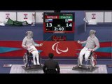 Wheelchair Fencing - RUS vs POL - Men's Individual Sabre - London 2012 Paralympic Games