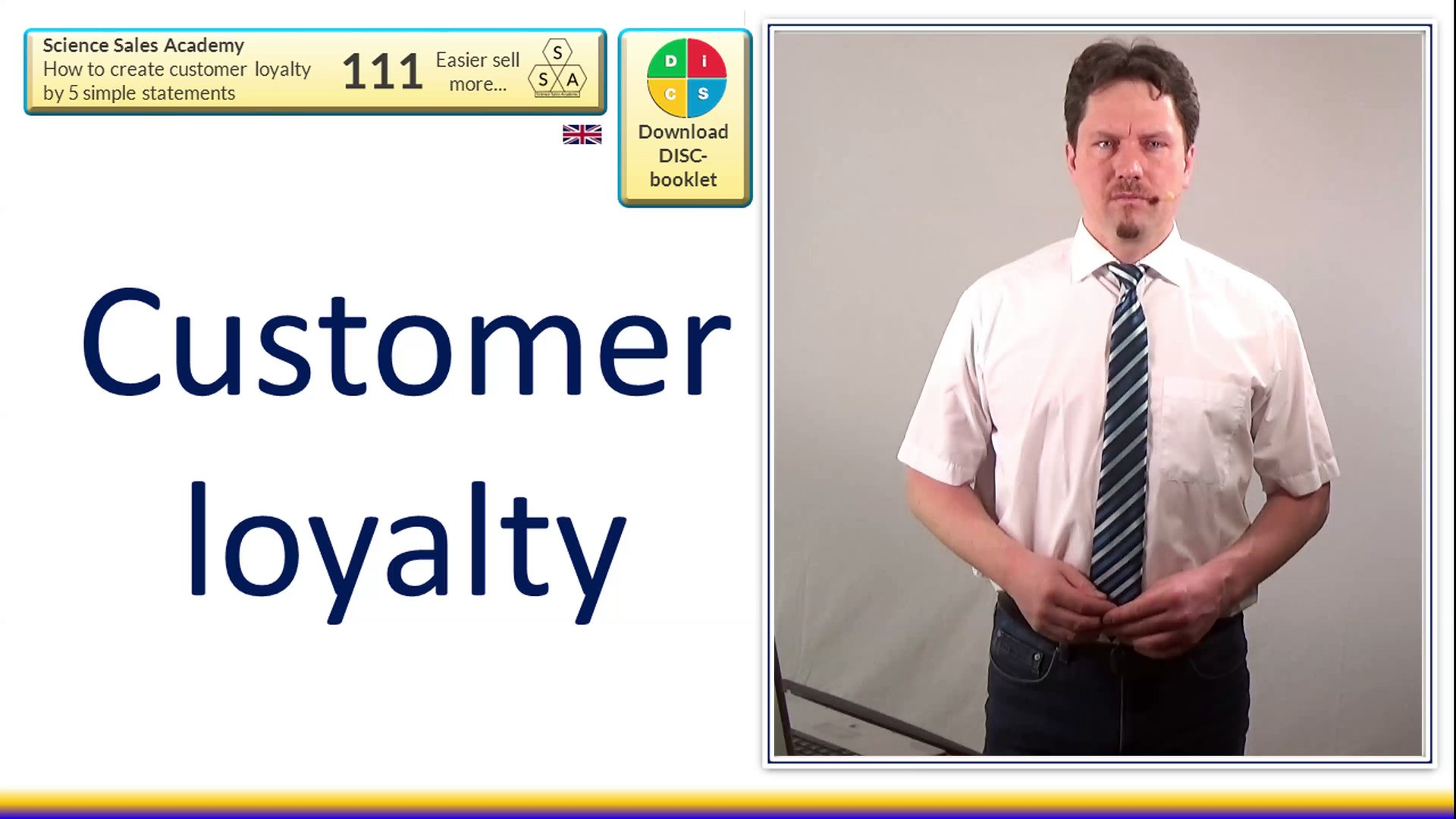 111 - How to create customer loyalty by 5 simple statements - 4K