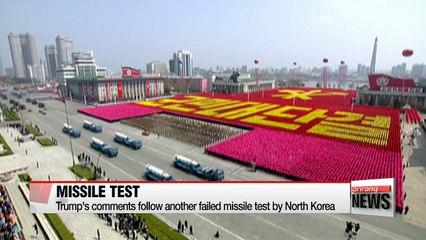 Trump keeps options open against North Korea