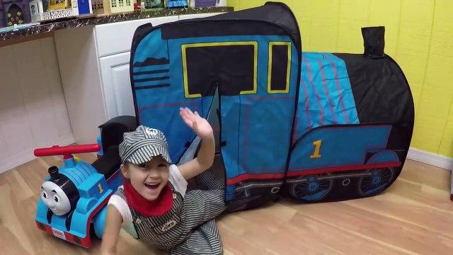 HUGE THOMAS AND FRIENDS SURPRISE TOYS TENT Egg Surprises Ride-On Train Set Toy Trains & Track Sets-HdS2qAruX
