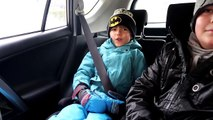 Winter Playground Family Play - Snow Slides Fun and Ice Skating-WHexJBg
