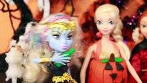 HALLOWEEN PRANK Barbie Frozen Monster High Doll Parody Play-Doh Halloween Costumes DIY KIDS Trick-iul9l4C