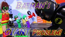Lego Batman Movie Giant Problem Batman and Robin Transform to Huge Gigantic Lego Minifigures-0