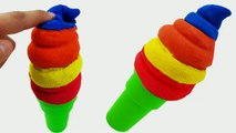 DIY Make Colors Kinetic Sand Ice Cream Cone Icecream Rainbow Learning Colors Ice Cream Molds-un