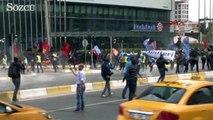 Mecidiyeköy'den Taksim'e yürümek isteyen gruba müdahale!