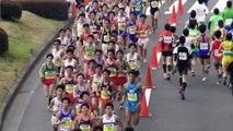 【頑張れ中大】立川ハーフ(日本学生ハーフ)マラソン 約8Km地点 2016.3.6