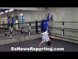 Vasyl Lomachenko Exclusive vid Full Workout And Interview - esnews boxing