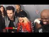 """Christina Aguilera and Adam Levine INTERVIEW """"The Voice"""" Season 3 Party Celberation"""