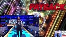 Roman Reigns vs Braun Strowman Match   WWE Payback 2017