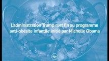 L'administration Trump met fin au programme anti-obésité infantile initié par Michelle Obama