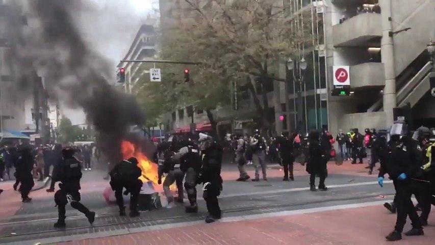 Violences dans les manifestations du 1er mai à Portland