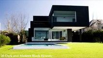 20 Dark and Modern Black Houses-Ara