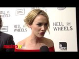 """Dominique McElligott Interview at """"Hell On Wheels"""" Season 2 Premiere Screening Arrivals"""