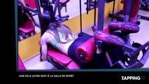 Une fille ultra sexy a des orgasmes à la salle de sport (vidéo)
