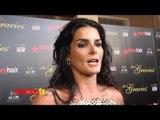 "Angie Harmon Soundbytes ""Gracie Awards"" 2012 Red Carpet"