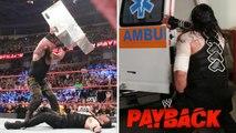 Braun Strowman vs Roman Reigns - WWE Payback 2017 - Full Match Highlights HD
