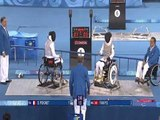 Women's Wheelchair Fencing Foil Individual A Bronze medal game at Beijing 2008 Paralympic Games