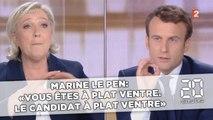 Marine Le Pen: «Vous êtes à plat ventre. Le candidat à plat ventre!»