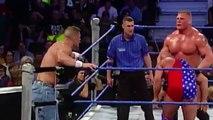 Brock Lesnar and John Cena vs Undertaker and Kurt Angle - WWE SmackDown 10-3-2003 (HD)