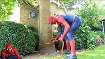 Spiderman POOL PRANKS! w  FROZEN ELSA SPIDERGIRL Swimming Pool SURPRISE Fun Prin
