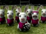 Les lapins crétins en + crétin- le Haka