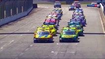 Stock Car Brasil 2017. Race 1 Autódromo do Velopark. Start Crash
