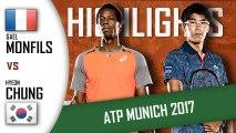Gael MONFILS vs Hyeon CHUNG HD720p60 Highlights ATP 250 Munich 2017