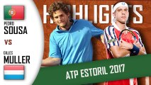Pedro SOUSA vs Gilles MULLER HD720p60 Highlights ATP 250 Estoril 2017