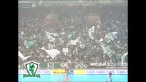 Panathinaikos-Cuneo.Volleyball Cev Cup Semi Final 2009. Atmosphere at the end of game