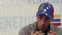 "Capriles: ""Si fuéramos violentos ya hubiésemos tumbado"" a Maduro"