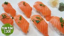 Salmon Nigiri Sushi | How to Fillet a Salmon for Sushi