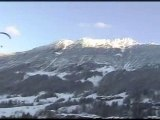 Parapente olive valmorel neige ski alpes fun