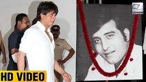 Shah Rukh Khan Got Emotional At Vinod Khannas Prayer Meet