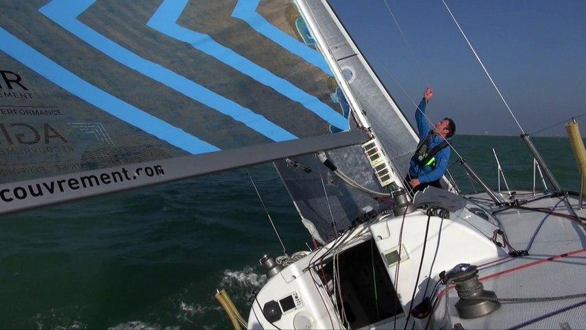 Adrien Hardy en navigation