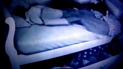 Girl sleeping suprize