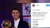 Cristiano Ronaldo atteint 100 millions d'abonnés sur Instagram, le top 7 de ses publications (vidéo)