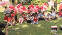 Presidential candidates spend Children's day, targeting parents of Korea's young children