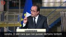 Présidentielle : avec humour, François Hollande raille Marine Le Pen