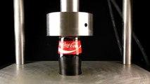 What Happens if Coca-Cola under hydrolic press