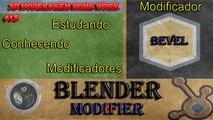 Blender Tutorial - Modelagem 3D - Blender Modifier - Modificador Bevel