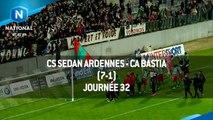 J32 : CS Sedan Ardennes - CA Bastia (7-1), le résumé