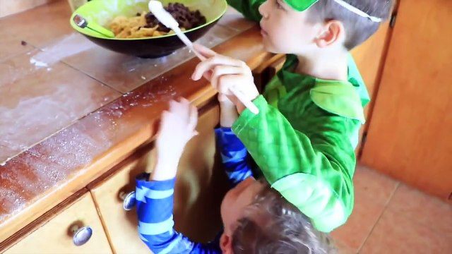 PJ MASKS IRL Fat Catboy DISAPPEAR COOKIES! Superhero PJ Masks In Real Life Episode Eat Junk Food