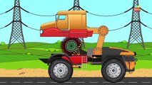 transformex | monster trucks | Halloween video for kids | flying, cutter, climbing monster truck