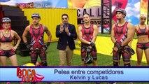 Pelea entre competidores Kelvin y Lucas