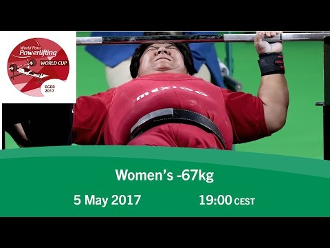 Women's -67kg   2017 World Para Powerlifting World Cup   Eger