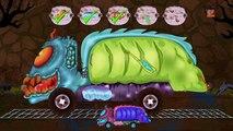 beängstigend Müllwagen | Autogarage | Fahrzeuge für Kinder | Scary garbage Truck Car Garag