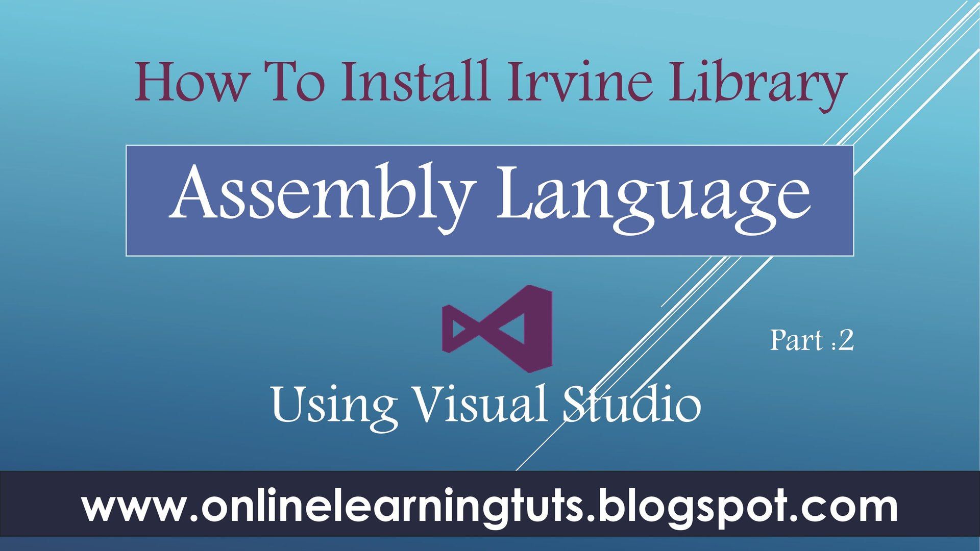 How to Install Irvine Library in visual Studio