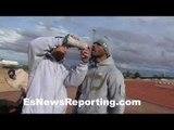 Alex Ariza training Thomas Dulorme - EsNews Boxing
